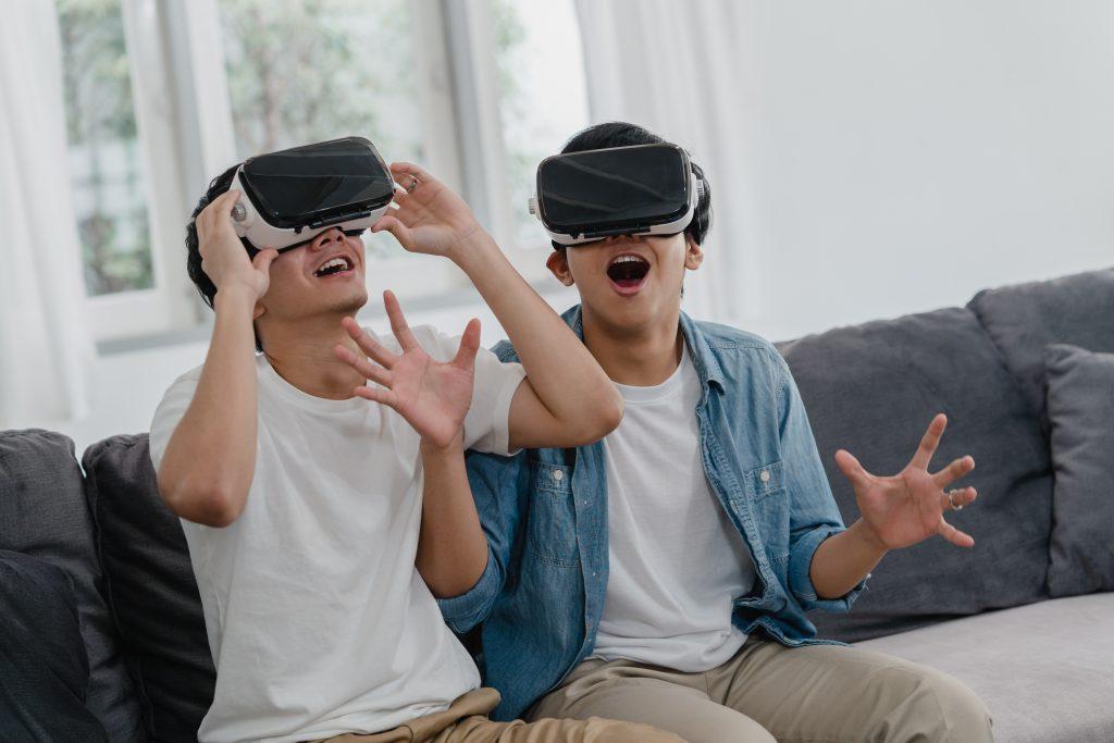 Jugar gafas realidad virtual